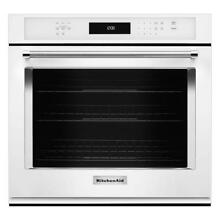 KitchenAid KOSE500EWH03 Built In 30  Single Convection Oven White