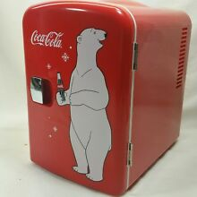 Mini Fridge Coca Cola Personal 6 Can Koolatron KWC 4 AC DC   Colds Heats