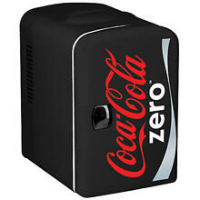 CZ04 Coke Zero Personal 6 Can Cooler  12 volt   110V DC for your home