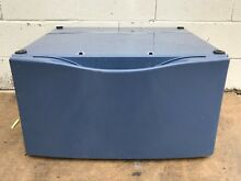Kenmore Elite Washer Dryer Pedestal with drawer Blue Part   55847400  5782760