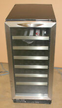 Danby 15  Built In Silhouette Series 34 Bottle Wine Cooler Chiller DWC1534BLS