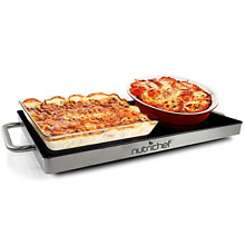Portable Electric Food Hot Plate   Stainless Steel Warming Tray Dish Warmer Top