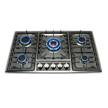 34 inch Black Titanium Stainless Steel Built in 5 Burner Stoves Gas Hob Cooktop