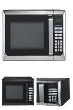 Hamilton Beach  Microwave Oven Stainless Steel  Black  Kitchen Dorm Room Office