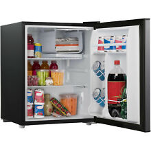 Fridge Storage Cooler 2 7 cu ft Single Door Stainless Steel Compact Dorm Home