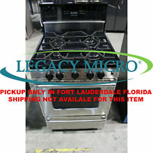 Premier P24S3402PS 24  Wide 4 Burner Gas Range 2 9 Cu Ft Stainless