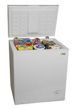 Compact Space Saver Chest Freezer Home Kitchen Dorm Food Storage 5 Cu Ft White