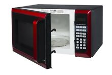 HAMILTON BEACH 0 9 CU FT MICROWAVE OVEN  RED P90D23AL WRR  DISTRESSED