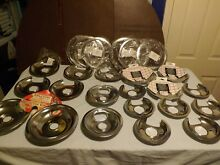 Mixed Sizes Styles Brands Lot Electric Range Drip Pan Reflector Bowls