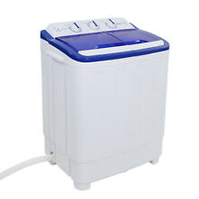 Quality Portable Mini Compact Twin Tub 16lb Washing Machine Washer Spin Dryer