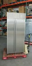 SUB ZERO 36  SIDE BY SIDE BUILT IN REFRIGERATOR WITH PERFECT STAINLESS DOORS