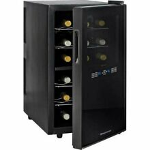 Wine Enthusiast Silent 18 Bottle Dual Zone Touchscreen Wine Cooler ETL Approved