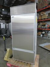 SUB ZERO 36  BOTTOM FREEZER BUILT IN REFRIGERATOR NO FLAW PERFECT STAINLESS