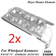 2Pcs Dryer Heating Element For Whirlpool Kenmore 3387747 WP3387747 AP6008281 USA