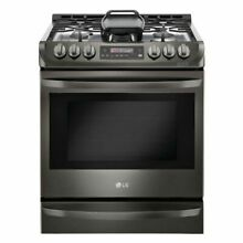 LG LSG4513BD  6 3 cu  ft  Gas Range ProBake Convection Black Stainless Steel