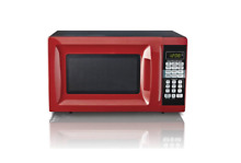 Microwave Oven Hamilton Beach Modern 0 7 Cu  touch pad Dorm Red Stainless Steel