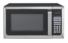 Hamilton Beach Modern 0 9 Cu  Ft  touch pad Microwave Oven  Stainless Steel