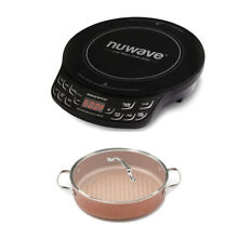 NuWave PIC FLEX Precision Cooktop and 3 Quart Forged Grill Pan with Lid