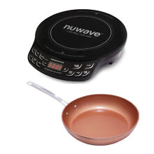 NuWave PIC FLEX Precision Cooktop and 8  Aluminum Forged Non Stick Fry Pan