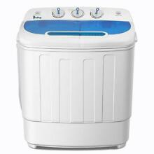 Portable Mini Compact Twin Tub 13Lbs Total Washing Machine Washer Spain Spinner
