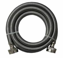 Stainless Steel Washing Machine 4  Inlet Fill Hose with Washers