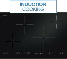 Frigidaire Gallery 30  4 Element Black Induction Smoothtop Cooktop FGIC3067MB