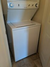 Frigidaire 3 8 Cu Ft  Washer and 5 5 Cu Ft  Electric Dryer   2 years old