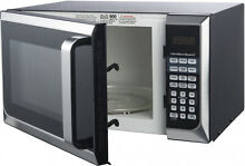 Stainless Steel 0 9 Cu Ft Microwave Oven Kitchen Countertop Touch Pad Control