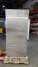 SUB ZERO 36  BOTTOM FREEZER BUILT IN REFRIGERATOR PERFECT STAINLESS TUBE HANDLES