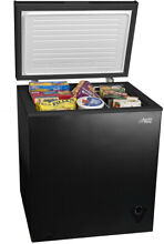 Black Compact 5 Cu Ft Chest Freezer Home Business W  Removable Storage Basket
