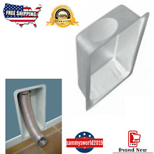 IMPERIAL Aluminum Dryer Vent Paintable Recessed Box Protects Dryer Duct  NEW