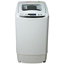 White Portable Compact Washer 0 9 Cu Ft W  Durable Stainless Steel Interior Tub