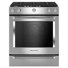 KitchenAid 30  Stainless Steel Slide in Gas Range KSGG700ESS