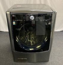 LG Turbowash Series 29 Inch 5 2 cu ft Front Load Washer Graphite Steel WM9000HVA