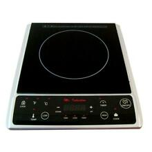 Black Silver 7 25  Induction Hot Plate Single Burner Micro Crystal Ceramic Plate