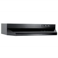 Broan Under Cabinet Range Hood ADA Capable Kitchen 30 In Black Ducted with Light
