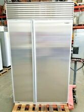 SUB ZERO 48  REFRIGERATOR WITH PERFECT STAINLESS STEEL DOORS   MAJOR DISCOUNT