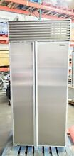 SUB ZERO 36  STAINLESS STEEL SIDE BY SIDE BUILT IN REFRIGERATOR   MAJOR DISCOUNT
