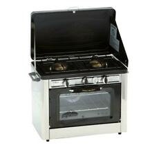 Camp Chef Propane Gas Range Stove 2 Burner Heat Thermometer Painted Steel Grill