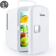 AstroAI Mini Fridge 4 Liter 6 Can AC DC Portable Thermoelectric Cooler