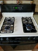 Gas Range Hot Point 30 inch self cleaning oven Black and White