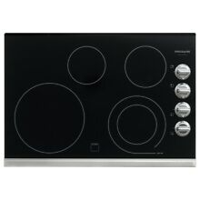 Frigidaire Gallery 30  Stainless Black Electric Smoothtop Cooktop FGEC3045PS