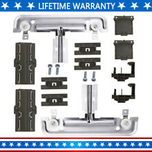 W10712395 Dishwasher Upper Rack Adjuster Metal Kit Compatible with Whirlpool