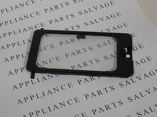 5304464102  5304464103 MICROWAVE OVEN LIGHT COVER AND GLASS LENS BLACK NEW PULL