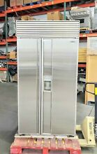 SUB ZERO 680 42  STAINLESS STEEL WATER ICE DISP REFRIGERATOR  50 OFF  11495 MSRP