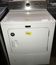 Maytag 29  Wrinkle Control Front Load Gas Dryer 12 Cycle White MGDC465HW GAS116