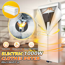 1000W Portable Electric Clothes Dryer Heater Fast Drying Machine Laundry Storage