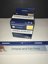 General Electric PM8X73 Flexible Foil Clothes Dryer Transition Duct with Clamps
