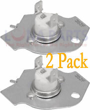 2 Pack 3977394 Thermal Fuse Replacement for Whirlpool Kenmore Dryers