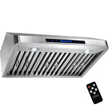 30  Under Cabinet Range Hood Stainless Steel Touch Panel with Remote Control